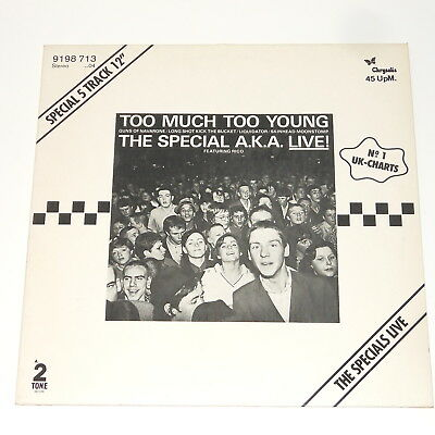 "The Special A.K.A. Live! feat. Rico - 12"" EP - Too Much Too Young - Specials"