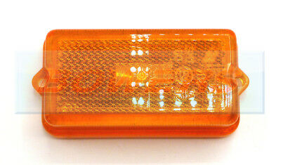 Amber Orange Screw On Side Reflector Marker Lens Truck Trailer Caravan Motorhome