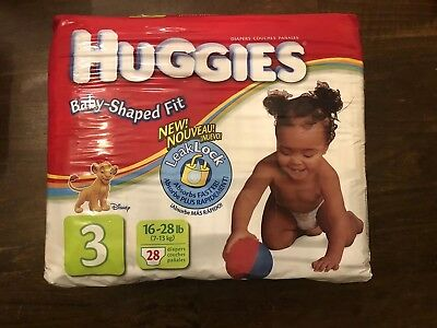 Vintage Huggies LION KING Baby Diapers Size 3  RARE!!