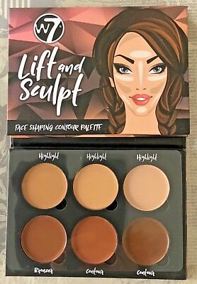 W7 Lift & Sculpt Face Shaping Contour Palette. Highlight, Bronze & Contour X