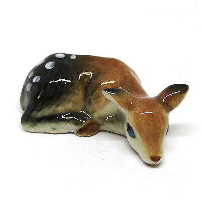 Craft Miniature Collectible Porcelain Ceramic Deer Bambi Figurine Animal Gift