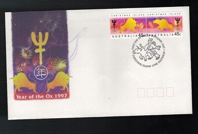 1997 Christmas Island  Year of The OX  FDC Pair