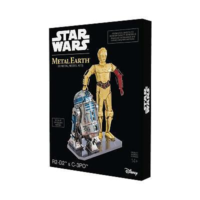"Metal Earth MMG276 502667"" Star Wars R2-D2 and C-3PO Construction Toy"