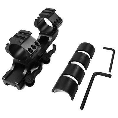 "30mm/25.4mm 1"" Dual Ring QD Quick Release Scope Rail Mount Picatinny Rifle Tool"