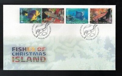 2013 FDC Christmas Island. Fishes . FDC
