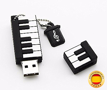Eliteguard 64GB USB Pen Drive Piano Música con caja de(64 GB)