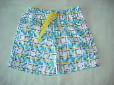 fc322bb9d4 Primark baby boys blue yellow check swim shorts trunks 9-12 months