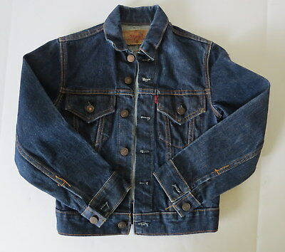 Vintage Levis BIG E Child Youth Size Denim Jacket