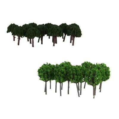 100Pcs Model Tree Z Scale Train Railway War Game Layout Landscape Scenery