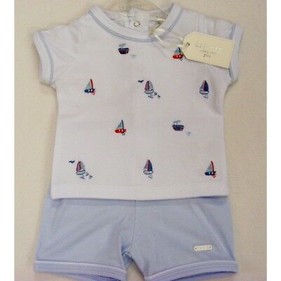 *SALE* Gorgeous Zip Zap Baby Boy's Embroidered Boat Cotton T Shirt Suit