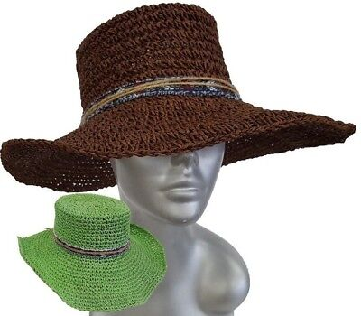 2acdc710e WOMEN'S SUMMER FLOPPY Fedora wide Brim Straw hats vacation travel Packable  Hat