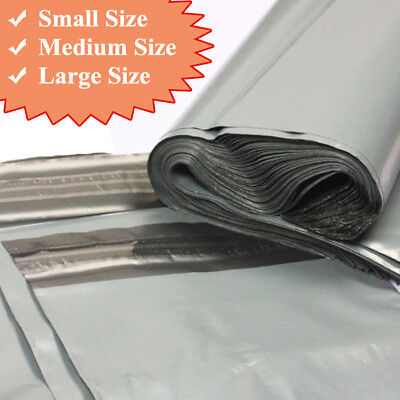 """14"""" x 21"""" inch Grey Mailing Bags Large Strong Seal Post Parcel Packing"""