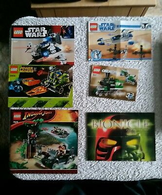 Lego Instruction Manuals City Star Wars Indiana Jones Exoforce