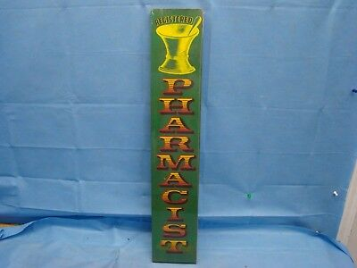 "Registered PHARMACIST Sign Plaque 24"" x 4"" Pharmacy Retro Apothecary New"