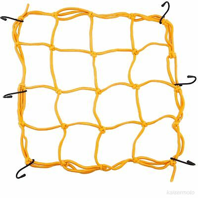 Motorcycle Bungee Cord Cargo Net Mesh Storage Luggage Tie Down Helmet Gold