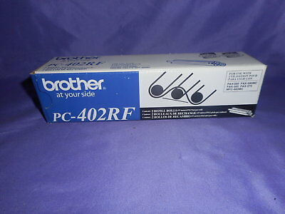2 New Brother Pc-402Rf Fax Toner Refill Rolls Brand New In Box Nib Nip