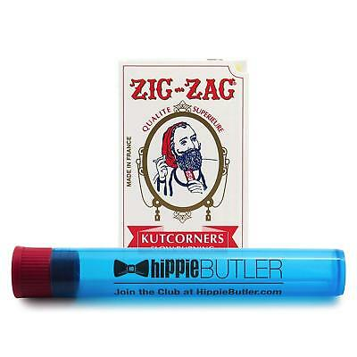 Zig Zag White Single Wide Cut Corners (1 Pack) with Hippie Butler KewlTube