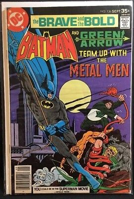 The Brave And The Bold #136 DC Comics Batman And Green Arrow 1977 Fair