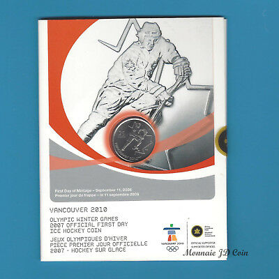 2007 Canada Vancouver Olympic 2010 25 Cent First Day Cover