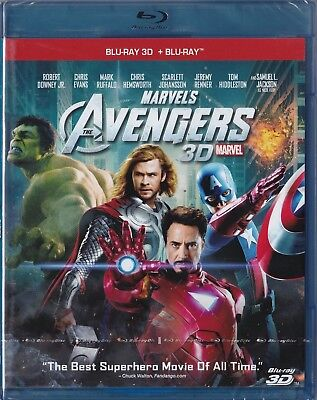 Marvel's The Avengers 3D Blu-ray + Blu-ray _ New sealed
