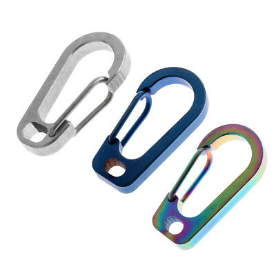 JT/_ Titanium Snap Key Chain Ring Clip Carabiner Outdoor Buckle Hook Keychain N