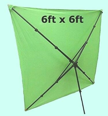 6x6 Portable Chromakey Green Screen /w Collapsible Stand & Carrying Case