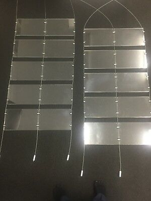 Window Display, Acrylic Cable Kits System, Signage for Real Estate Etc 20xA4
