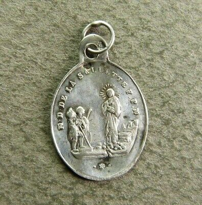 French Antique Religious Silver Medal ND of Saliette Pendant 1846 Hallmarked