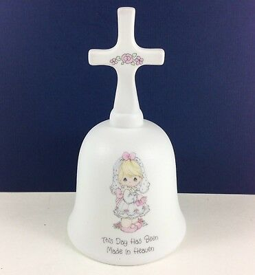 PRECIOUS MOMENTS BELL This Day Has Been Made In Heaven Bride Cross Enesco