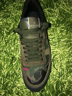 fece762194c89 VALENTINO ROCKRUNNER GREEN Authentic $850 Sneakers Size 44 - $649.00 ...