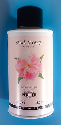 NWT! PERLIER Pink Peony Body Powder 3.3 Oz. 100 g. RARE ~ DISCONTINUED!