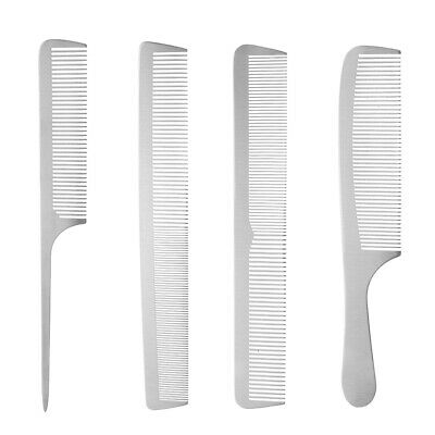 1pc Stainless Steel Salon Barber Hairdressing Hair Cutting Styling Comb Tool