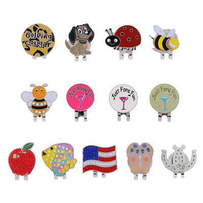 Magnetic Golf Hat Clip with Funny Patterns Golf Ball Marker Golf Accessories