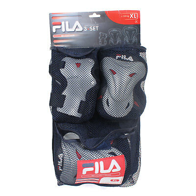 NEW Fila WOW Pad Set NAVY, LARGE Skateboard Safety Pads Sports