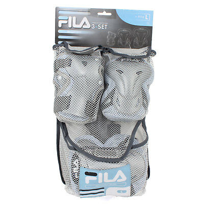 NEW Fila WOW Pad Set BLUE, LARGE WOMENS Skateboard Safety Pads Sports