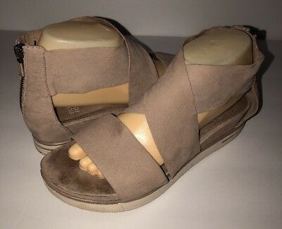 7f1774f7c37f Eileen Fisher Leather Crisscross Banded Backstrap Sport Sandal Earth Buck 9