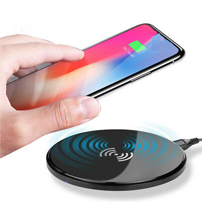 Portable Qi Wireless Charger Slim Charge Pad For Samsung Note8 S8+ iPhone X8Plus