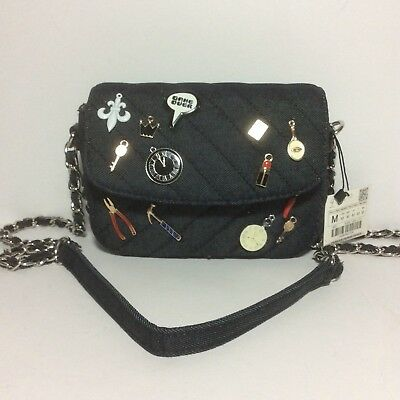 676fad67 NWT ZARA QUILTED Mini Bag/Shoulder Bag/Crossbody with Charms ...