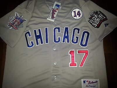 5e7ced8bc84 NEW TAG CHICAGO Cubs  17 Kris Bryant WS Patch Stitched Grey Majestic Jersey  2XL -  49.99