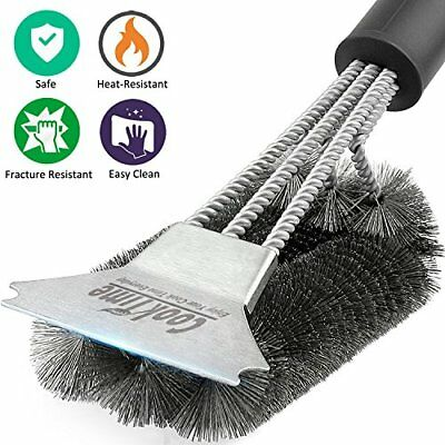 BBQ Grill Brush and Scraper 18'' for Weber Gas/Charcoal Grill Grates