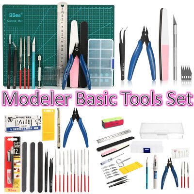DIY Modeler Basic Tools Set Hobby Model Building Kit Grinding FOR GUNDAM Craft