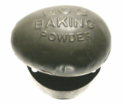 Antique EGG BAKING POWDER Embossed Biscuit / Cookie Cutter Figural Advertising
