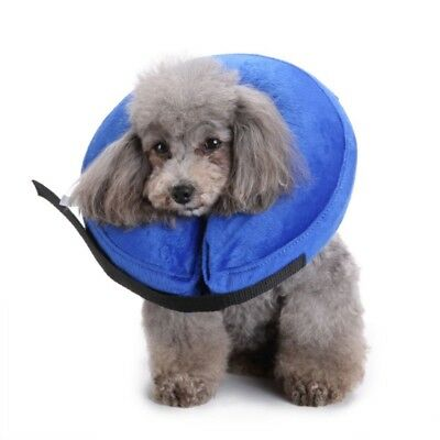 Inflatable Pet Collar Plush Adjustable Anti-bite Wound Healing Protective Supply