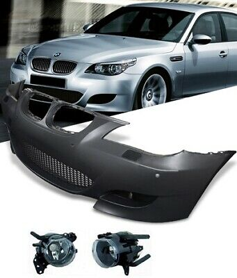 Painted Bmw E60/e61 5 Series M5 Look Front Bumper Pdc Fogs Complete / Equipped