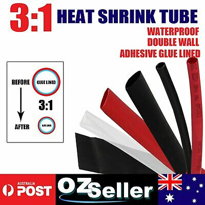 Heat Shrink Shrinkable Tube Sleeving 3:1 Dual Wall Glue Lined Wire Ends Process