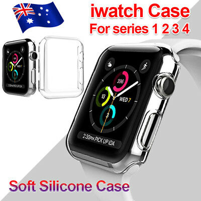 Full Cover TPU Case iWatch Screen Protector For Apple Watch Series 4 3/ 2 / 1 AU