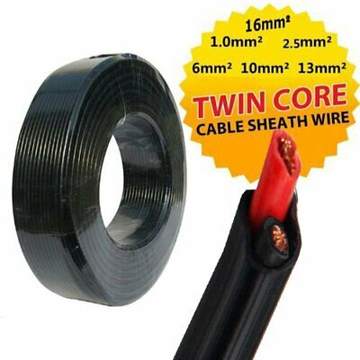 Twin Core Cable Dual Battery Sheath Electrical Wire 12V Caravan 4x4 Solar Panel