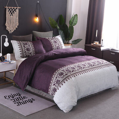 Doona Duvet Quilt Covers Set Floral Double Queen King All Size Bedding Supersoft