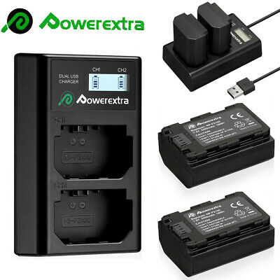Powerextra NP-FZ100 2500mAh Battery&LCD Dual Charger For Sony A9 A7R III A7 III