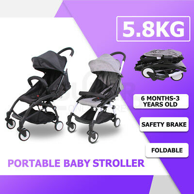 Lightweight Baby Stroller Bassinet Pram Newborn Folding Pushchair Travel Compact
